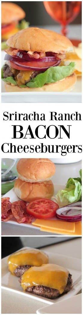 Sriracha Ranch Bacon Cheeseburgers