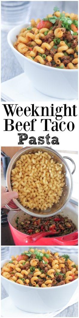 Weeknight Beef Taco Pasta