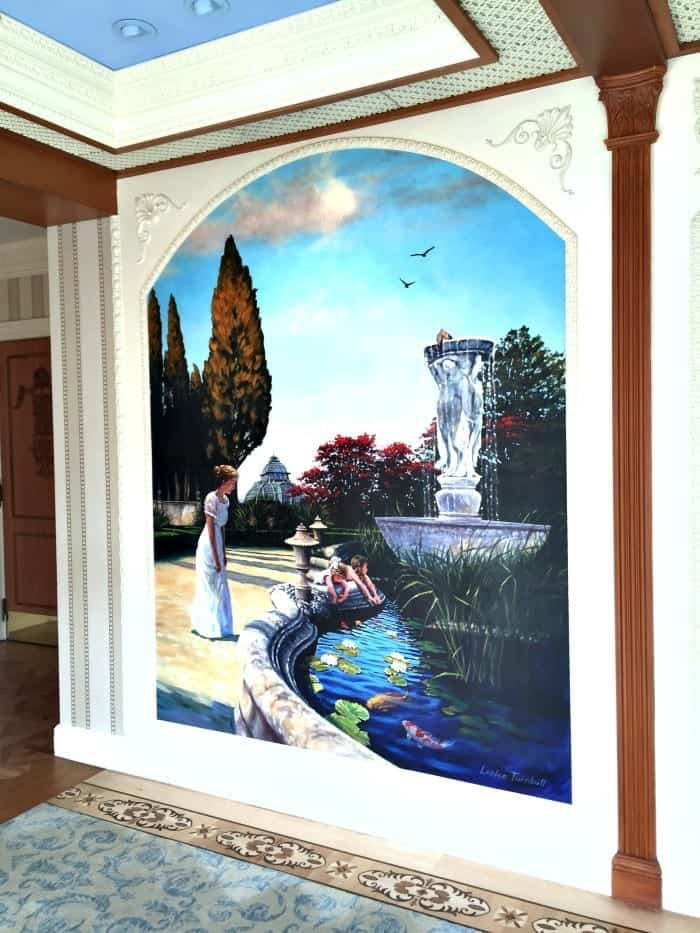 My experience at club 33 disneyland resort disney dining for Disneyland mural