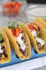 Chicken Black Bean Corn Tacos