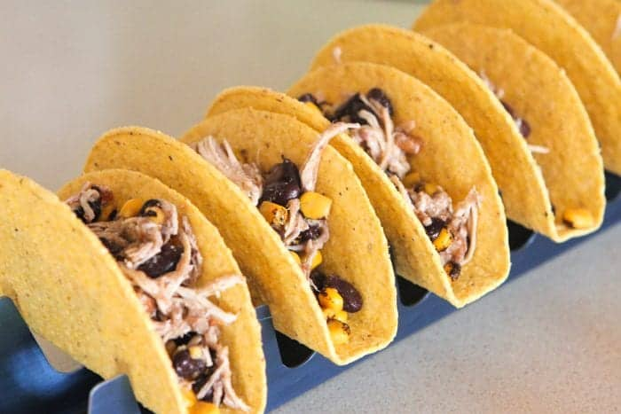 Chicken Black Bean Corn Tacos Recipe