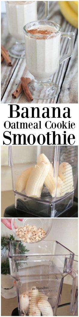 Banana Oatmeal Cookie Smoothie