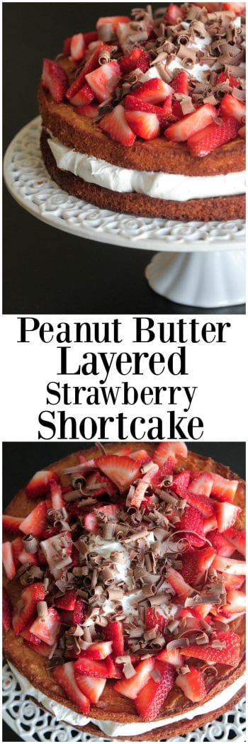 Peanut Butter Layered Strawberry Shortcake