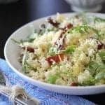 Image of an Almond Artichoke Summer Couscous Salad
