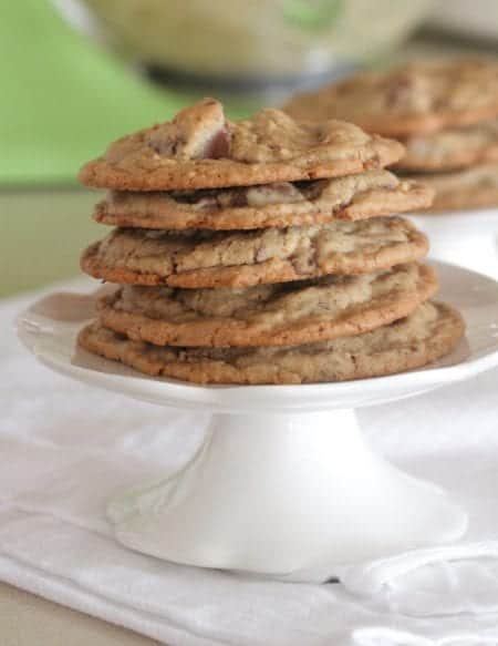 A Stack of Bakery Style Chocolate Chunk Cookies