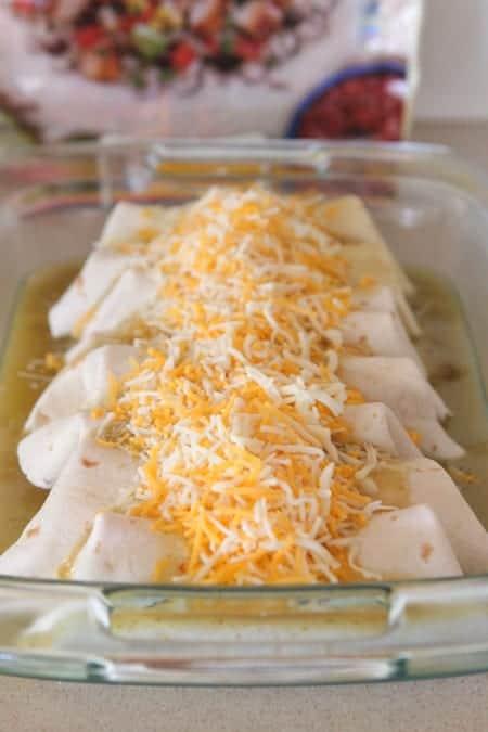 Enchilada Style Bean Burritos Supreme