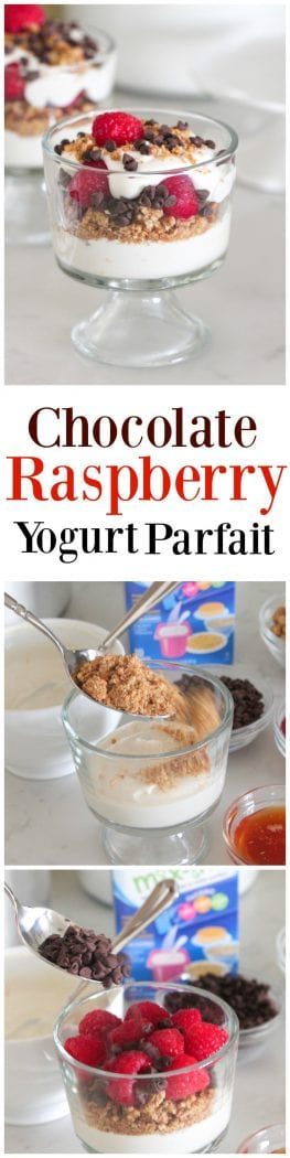 Chocolate Raspberry Yogurt Parfait