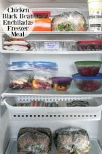 Chicken Black Bean Enchiladas Freezer Meals
