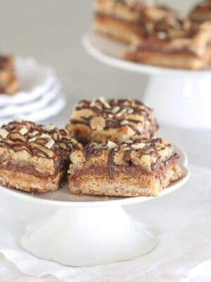 Gooey Almond Cookie S'mores Bars