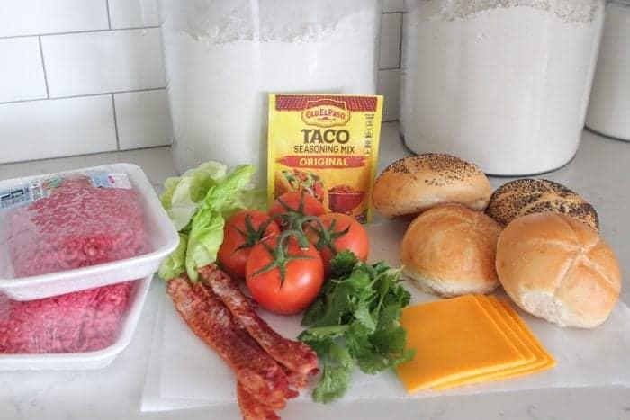 Taco Bacon Cheeseburgers