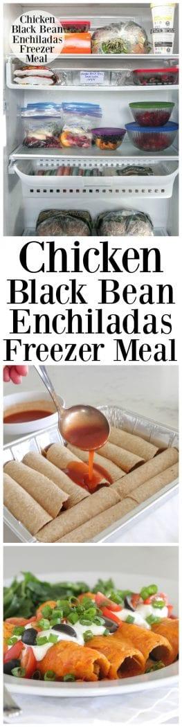 Chicken Black Bean Enchiladas Freezer Meal