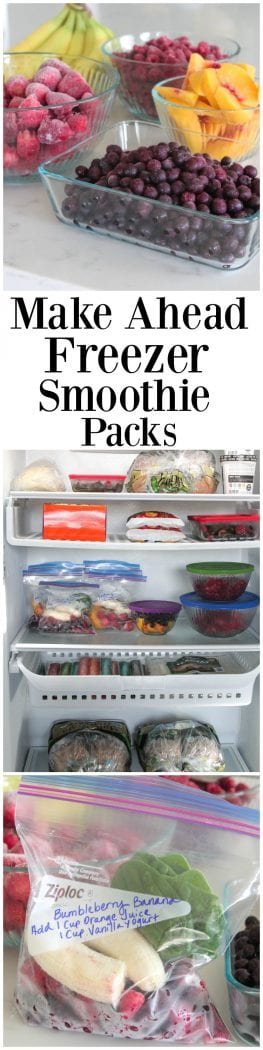 Make Ahead Smoothie Packs