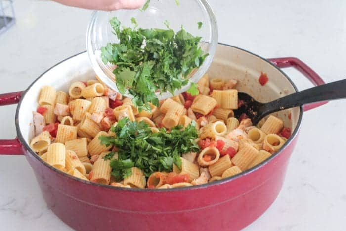 Chicken Taco Rigatoni Bake