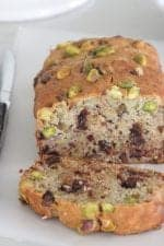 Chocolate Chip Pistachio Banana Bread