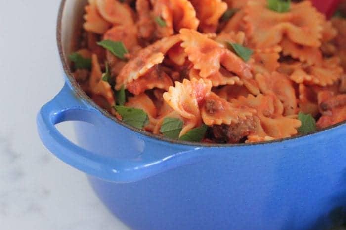 Weeknight Creamy Sausage Pasta