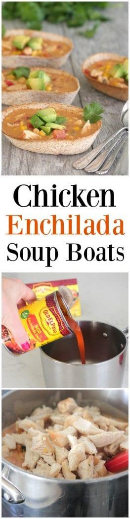 Chicken Enchilada Soup Boats