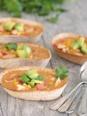 Chicken Enchilada Soup Boats