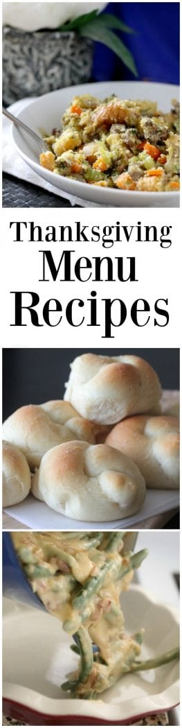 Thanksgiving Menu Recipes
