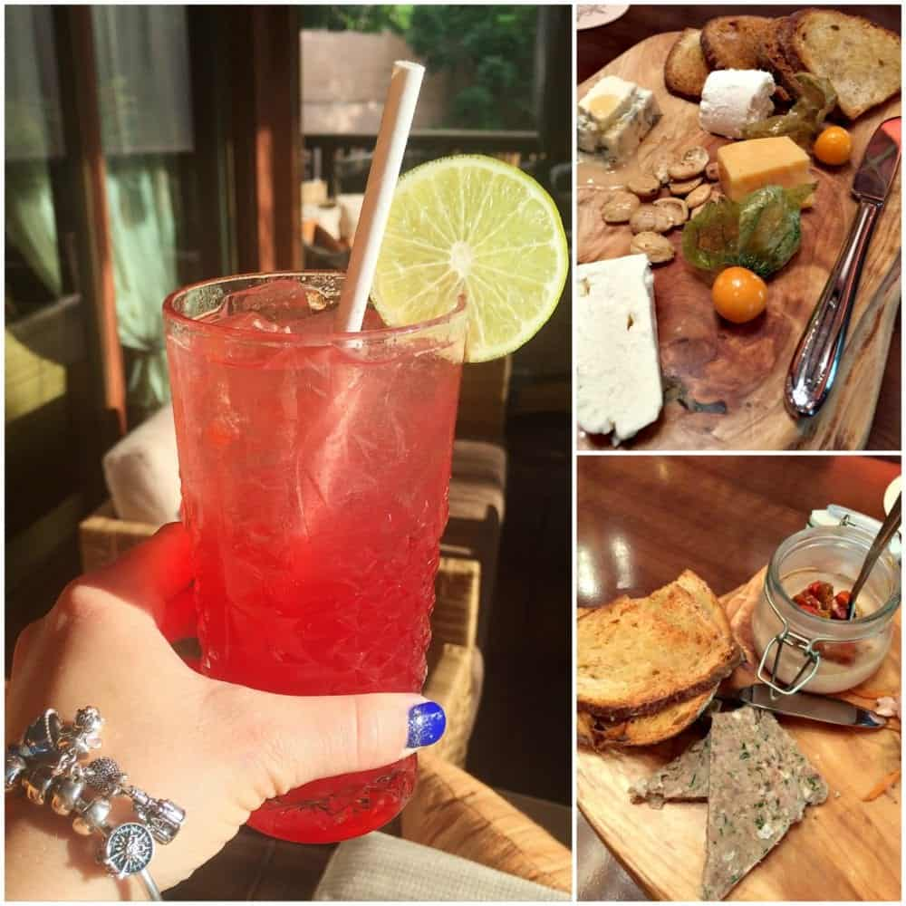 A Collage of Food and Drinks from Tiffins Restaurant