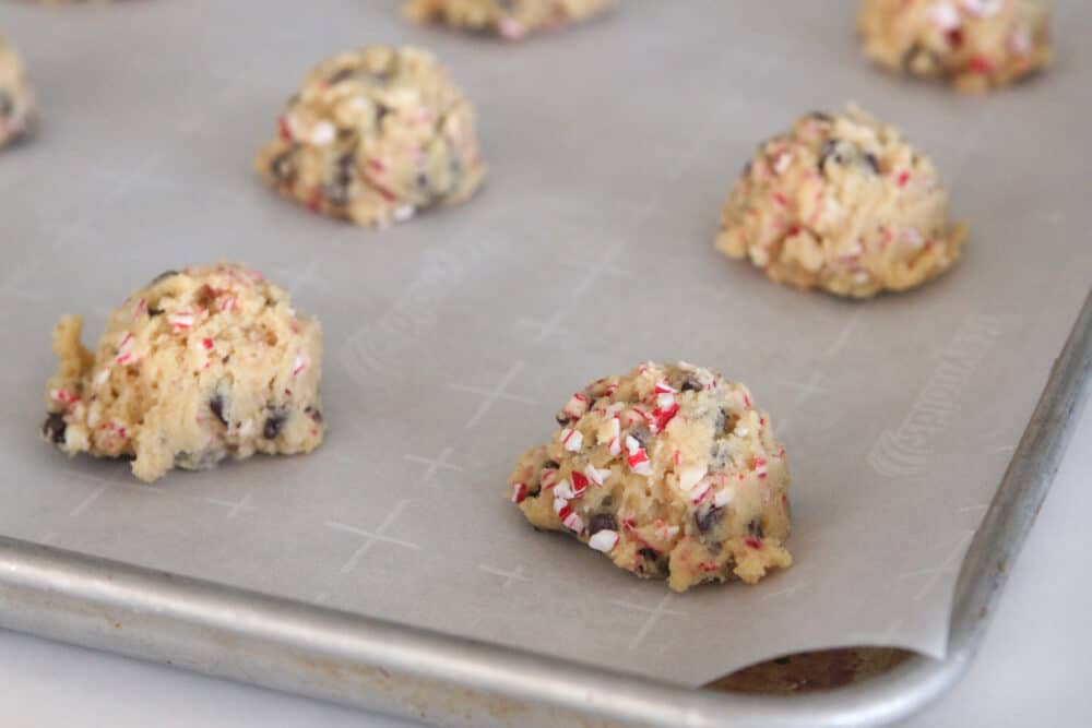 candy cane cookie dough