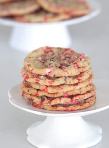 candy cane cookies stacked