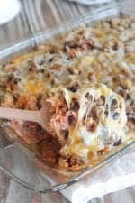 Cheesy Beef Enchilada Rice Bake