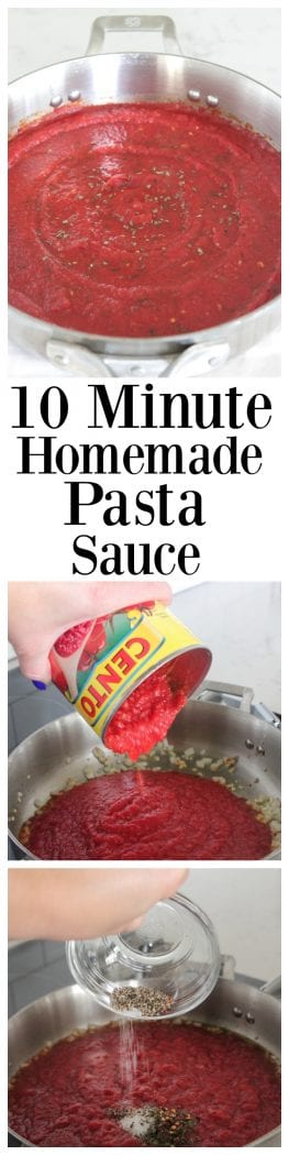 10 Minute Homemade Pasta Sauce
