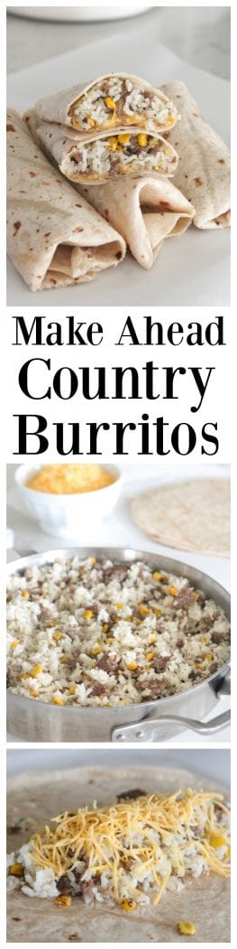 Make Ahead Country Burritos