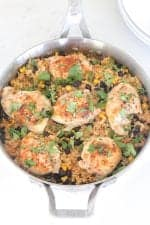 Image of a Chicken Taco Rice Skillet