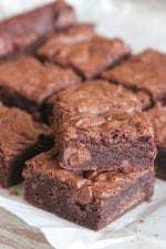 One Bowl Chocolate Chunk Brownies