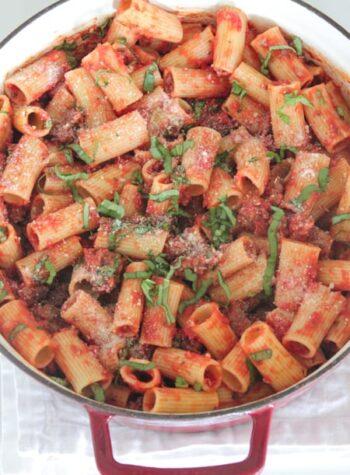 Sausage Basil Rigatoni