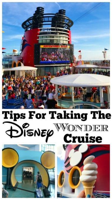 Tips for taking the disney wonder cruise