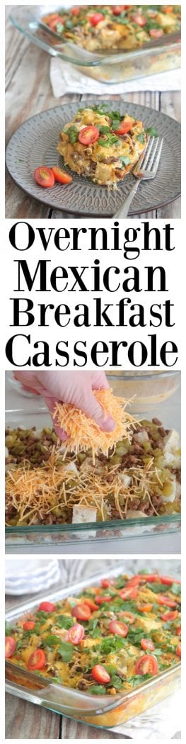 Overnight Mexican Breakfast Casserole