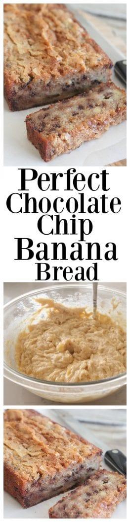 Perfect Chocolate Chip Banana Bread