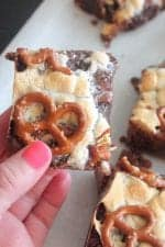 Chocolate Chunk Pretzel Brownies