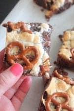 Chocolate Chunk Pretzel Brownies