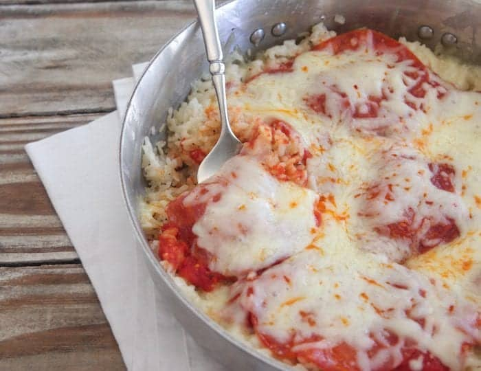 One Pot Pepperoni Pizza Rice