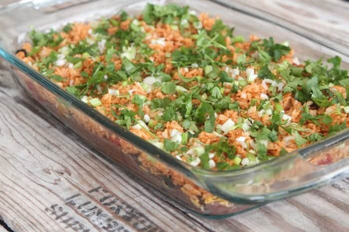 Fiesta 7 Layer Rice Bake
