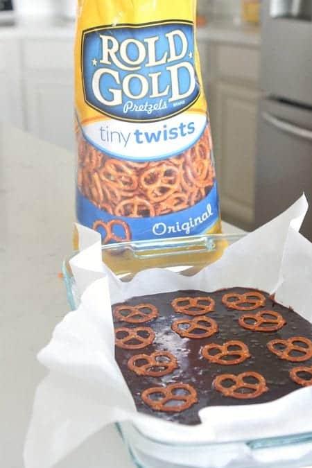 Rold Gold Pretzel Peanut Popcorn Brownies