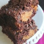 Peanut Butter Fudge Stuffed Brownies