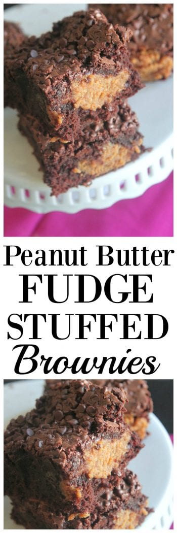Peanut Butter Fudge Stuffed Brownies