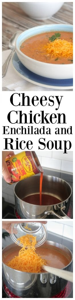 Cheesy Chicken Enchilada and Rice Soup