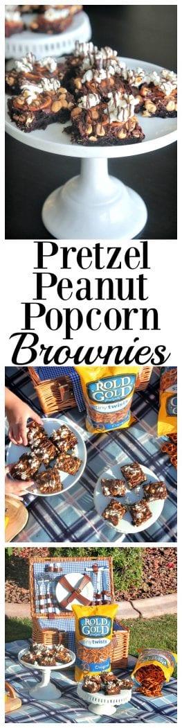 Pretzel Peanut Popcorn Brownies