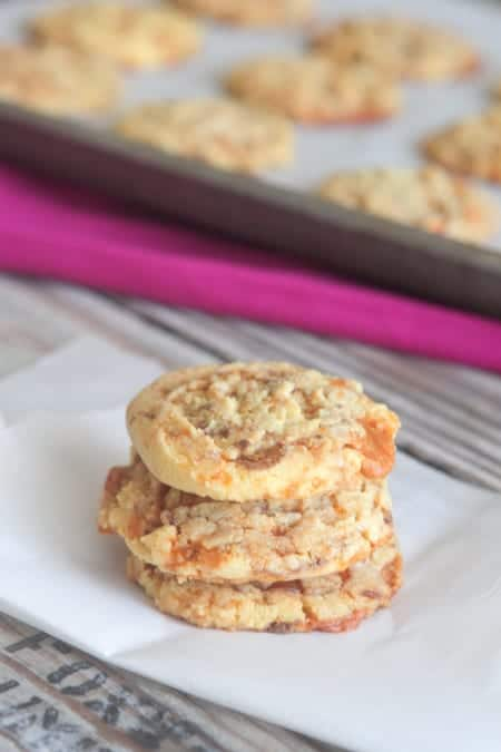 Butterfinger Cake Cookies