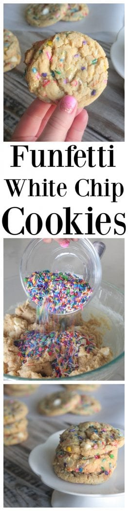 Funfetti White Chip Cookies