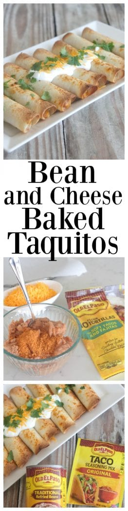 Bean and Cheese Baked Taquitos