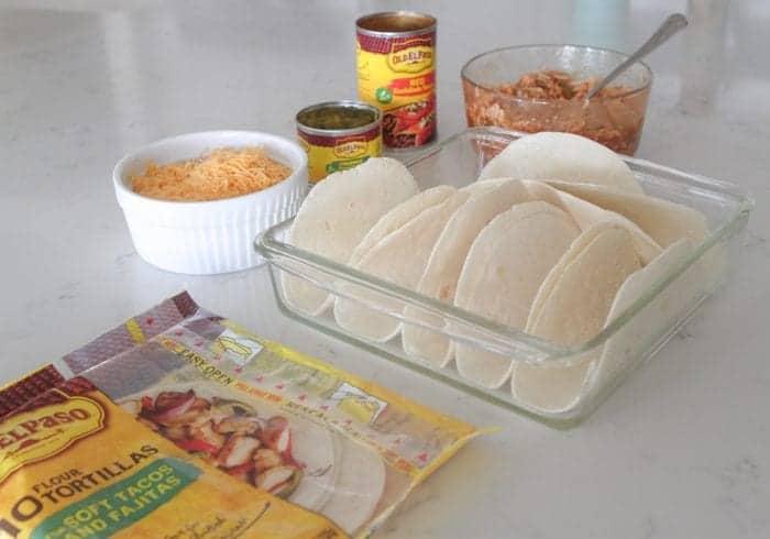 Chicken Enchilada Baked Soft Tacos