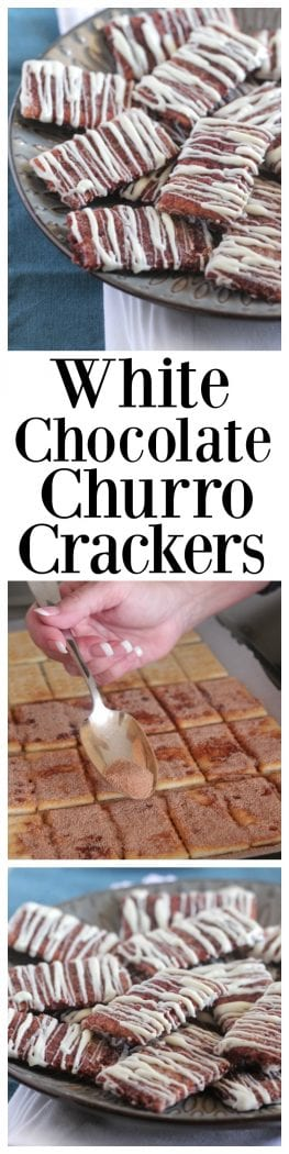 White Chocolate Churro Crackers