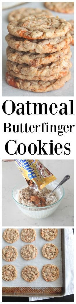 Oatmeal Butterfinger Cookies