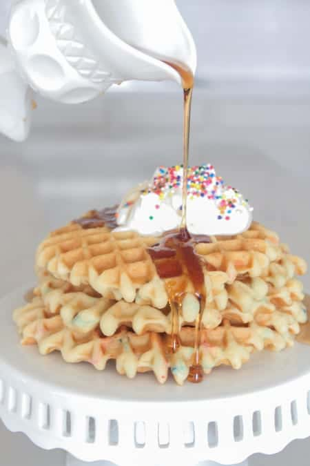 Birthday Cake Waffles